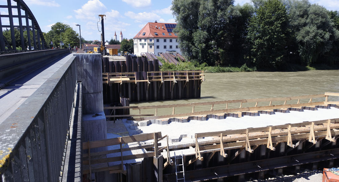 Baustelle Moosburg August 2016